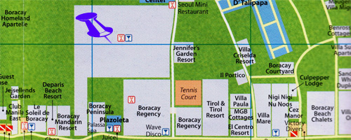 map for boracay garden